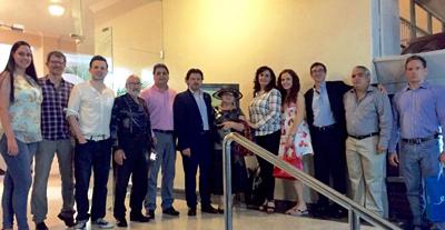 Miranda con miembros de la Sociedad Española de Beneficencia y autoridades españolas en Panamá.