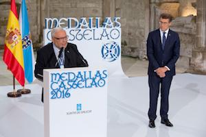 Un momento de la intervención del presidente de la Federación Guipuzcoana de Casas Regionales, José Antonio Vilaboa.