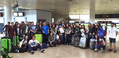 Los primeros participantes en el programa 'Conecta con Galicia' fueron recibidos por Ramón Brigos.