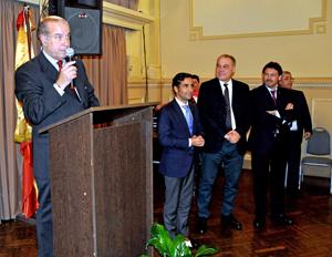 El presidente de la entidad, Víctor Moldes, se dirije a los asistentes.