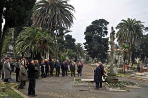 Un momento del homenaje a los gallegos fallecidos en Uruguay.