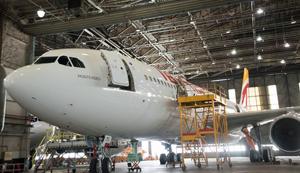 El nuevo avión 'Montevideo' de Iberia.