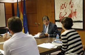 El presidente del Principado, Javier Fernández, en la reunión del Consejo de Gobierno del día 13 de julio.