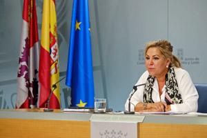 La vicepresidenta Rosa Valdeón compareció tras el Consejo de Gobierno.