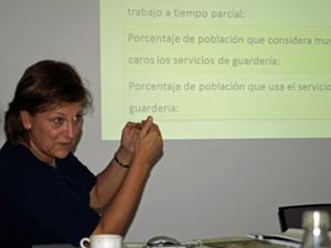 Carmen Salinas durante el seminario.