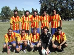 Los integrantes del equipo de fútbol.