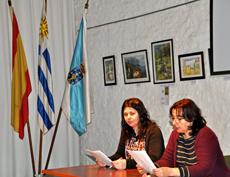 Élida Abal y Ana Lorenzo en un momento del acto.