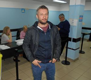 Alfonso Mourente, un nieto de emigrantes gallegos nacido en el hospital del Centro Gallego hace 46 años.