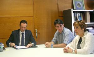 Guillermo Martínez, Bani Ordóñez y Begoña Serrano.