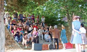 Un momento de la representación realizada por los jóvenes.