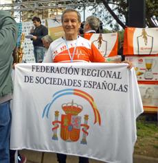 Juan Carlos Herner tras la carrera disputada en Bahía Blanca.