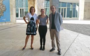 Cristina Rubal, Natalia Philipp y Anxo Lorenzo en la Cidade da Cultura.