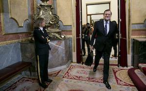 Mariano Rajoy, en el Congreso de los Diputados, en la jornada de la segunda votación de su fallida investidura.