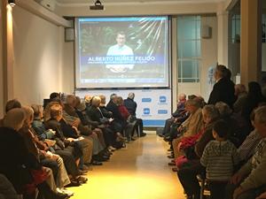 Durante el acto se emitió un vídeo con un mensaje del presidente de la Xunta.