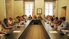 Romeva, en el centro, presidió la reunión del Consell.