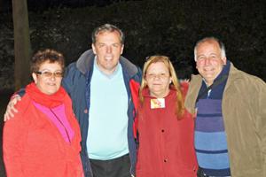 Graciela González, Jorge Torres, Miriam Rey y Miguel Pérez, los cuatro integrantes de la lista 5, la más votada.