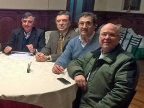 Ernesto Ordóñez, José María Vila Alén, Julio Álvarez y José Calvo durante la rueda de prensa.