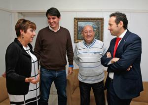 Begoña Serrano, Bany Ordóñez, Miguel Ángel Bobes y Guillermo Martínez.