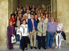 Juan Martínez Majo con los participantes en el Programa Siente Castilla y León.