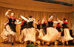 El grupo de baile de la institución hizo las delicias del público asistente.