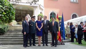 En el centro el embajador Luis Fernández-Cid junto a su esposa y otras autoridades mexicanas.
