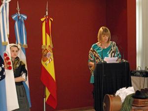 Intervención de la vicecónsul honoraria, Isabel Sánchez Izquierdo.