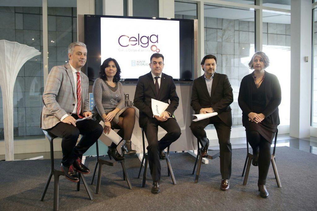 Valentín García, Mar Pereira, Román Rodríguez y Rodríguez Miranda en la presentación.
