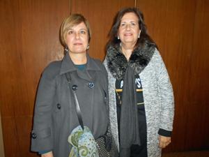 Patricia Pérez, de Galicia, y Mirta Polín, de Unión Gallega, dos de las agrupaciones opositoras que votaron la nulidad de la Asamblea de Representantes.