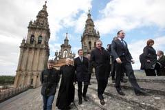 Los presidentes autonómicos en los tejados de la Catedral de Santiago.