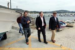 El presidente de Portos de Galicia, José Manuel Álvarez-Campana, visita Outes, con cuyo alcalde firmó un acuerdo para construir un centro náutico deportivo y una base técnica para el ente público.