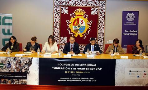 El conselleiro de Política Social en funciones, José Manuel Rey Varela, durante su intervención en eI Congreso.