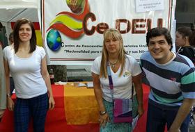 Juan Manuel de Hoz, derecha, con otros miembros de CeDEU.