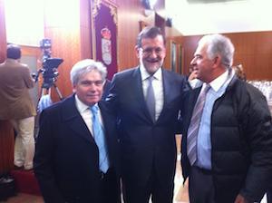 Ledo y Gil charlaron también con el presidente del Gobierno, Mariano Rajoy.