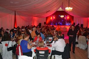 Vista parcial de los asistentes a la cena de gala.