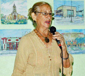 María del Pilar García Moreira, presidenta de la Sociedad Hijos del Partido de Lalín.
