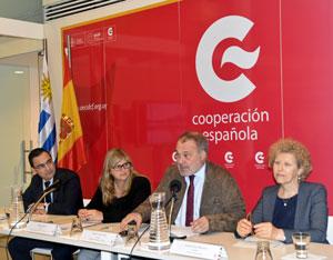 Intervención del embajador Roberto Varela durante la presentación del balance.
