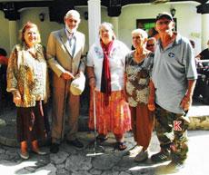 Manuela Rey, Marino López, Carmen Fariñas, Sofia Soto y Servando Oubel.