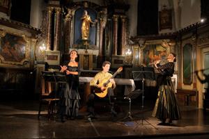 El concierto tuvo lugar en la iglesia de Souces.