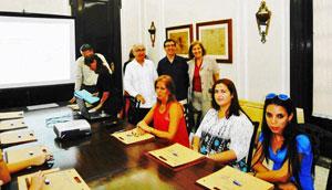 Jesús Chacón, Carlos Moyano y Matilde Negro participaron en la primera de las actividades de las Jornadas.