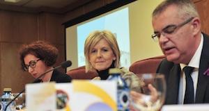 La secretaria xeral de Emprego, Covadonga Toca (centro), en un acto reciente.