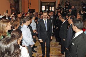 Alrededor de 350 personas se dieron cita en el Palacio de Palhavá.