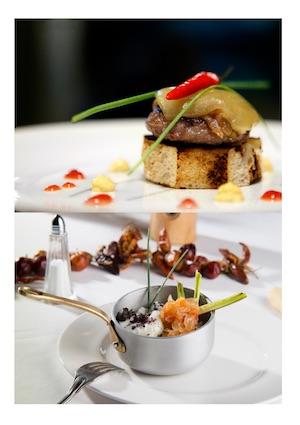 Dos propuestas de la moderna cocina gallega relacionadas con el evento.
