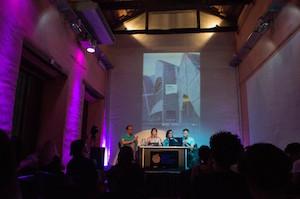 Un instante del evento que contó con la presencia de Anxo Lorenzo (1º por la izqda.)