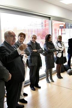 Álvarez Areces durante la inauguración de la escuela en Avilés.