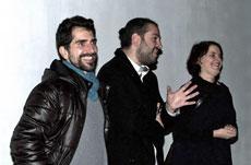 Javier Alemán, Lamberto Guerra y Marianne Kapfer durante el acto.