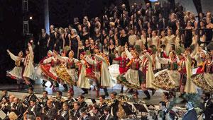 Actuación del grupo polaco.