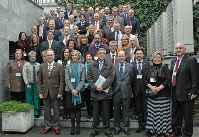 Foto de familia de los miembros del CGCEE reunidos en Madrid los días 30 y 31 de enero.