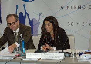 La portavoz de Emigración del PP en el Congreso, Celia Alberto Pérez, intervino en el V Pleno del VI Mandato del CGCEE.