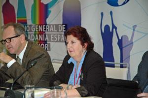Intervención de la presidenta de la Comisión de Jóvenes y Mujeres, María Jesús Vázquez Tiscar, consejera por Canadá.