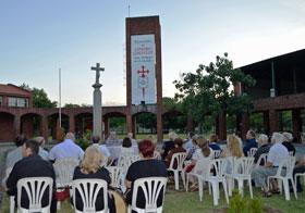 Acto en el Centro Gallego de Montevideo.